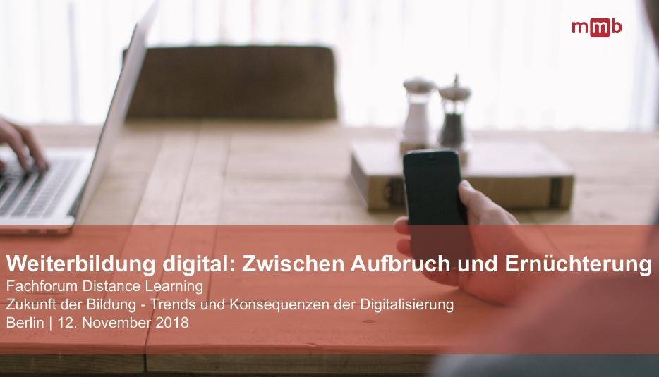 Weiterbildung digital: Zwischen Aufbruch und Ernüchterung